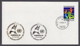 UNO Wien-UN Vienna - Beleg 1986 - MiNr. 45 - Gold-Sonderstempel - Najubria 86, Villingen-Schwenningen - UNO