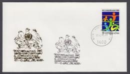 UNO Wien-UN Vienna - Beleg 1986 - MiNr. 45 - Gold-Sonderstempel - Briefmarkenmesse 86, Essen - UNO
