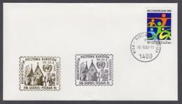 UNO Wien-UN Vienna - Beleg 1992 - MiNr. 45 - Gold-Sonderstempel - SW. Gabriel-Poznan 92 - UNO