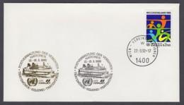 UNO Wien-UN Vienna - Beleg 1992 - MiNr. 45 - Gold-Sonderstempel - GTS Finnjet, Travemünde-Helsinki-Travemünde - UNO