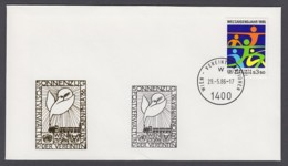 UNO Wien-UN Vienna - Beleg 1986 - MiNr. 45 - Gold-Sonderstempel - Phila 86, Sonnenzug, Wien - UNO