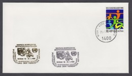 UNO Wien-UN Vienna - Beleg 1994 - MiNr. 45 - Gold-Sonderstempel - Deutsch-Norweg. Briefmarkenausstellung - UNO
