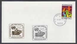 UNO Wien-UN Vienna - Beleg 1991 - MiNr. 46 - Gold-Sonderstempel - Oberhausen - UNO