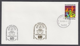 UNO Wien-UN Vienna - Beleg 1993 - MiNr. 46 - Gold-Sonderstempel - Unausphila 93, Wien - UNO