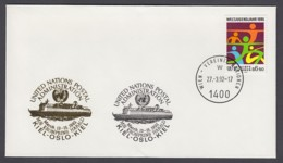 UNO Wien-UN Vienna - Beleg 1992 - MiNr. 46 - Gold-Sonderstempel - MS Kronprins Harald - UNO
