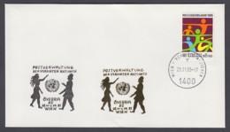 UNO Wien-UN Vienna - Beleg 1985 - MiNr. 46 - Gold-Sonderstempel - Övebria 85, Wien - UNO