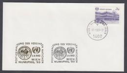 UNO Wien-UN Vienna - Beleg 1993 - MiNr. 47 - Gold-Sonderstempel - Numiphil 93, Wien - UNO