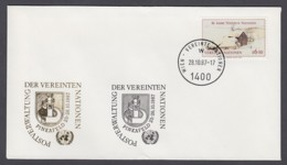 UNO Wien-UN Vienna - Beleg 1987 - MiNr. 51 A - Gold-Sonderstempel - Pinkafeld - UNO