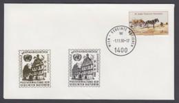 UNO Wien-UN Vienna - Beleg 1990 - MiNr. 52 A - Gold-Sonderstempel - Int. Briefmarkenbörse, Sindelfingen - UNO