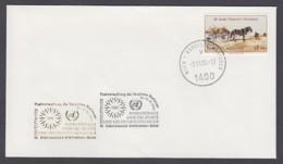UNO Wien-UN Vienna - Beleg 1994 - MiNr. 52 A - Gold-Sonderstempel - Int. Briefmarkenbörse, Sindelfingen - UNO