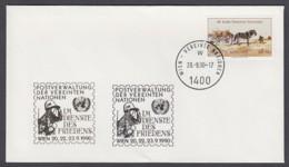 UNO Wien-UN Vienna - Beleg 1990 - MiNr. 52 A - Gold-Sonderstempel - Im Dienst Des Friedens, Wien - UNO