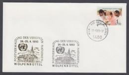 UNO Wien-UN Vienna - Beleg 1993 - MiNr. 84 - Gold-Sonderstempel - Wolfenbüttel - UNO