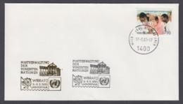 UNO Wien-UN Vienna - Beleg 1993 - MiNr. 84 - Gold-Sonderstempel - Wibra 93, Winterthur - UNO