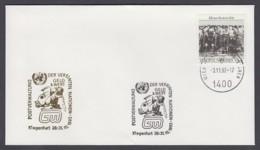 UNO Wien-UN Vienna - Beleg 1992 - MiNr. 96 - Gold-Sonderstempel - Geld & Wert, Klagenfurt - UNO
