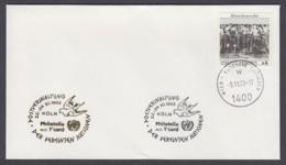 UNO Wien-UN Vienna - Beleg 1993 - MiNr. 96 - Gold-Sonderstempel - Philatelia Mit T'card, Köln - UNO