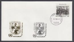 UNO Wien-UN Vienna - Beleg 1996 - MiNr. 96 - Gold-Sonderstempel - 75 Jahre Burgenland, Pinkafeld - UNO