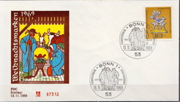 Germany Stamp On FDC From 1969 - Christmas