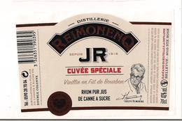 Etiquette RHUM  Reimonenq JR Cuvée Spécial - Vieilli 3 Ans En Fûts De Bourbon - GUADELOUPE - - Rhum
