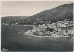 Cpsm Ajaccio Vue Générale Aérienne Sur La Cote Quartier De Forcone Et La Pointe De La Chapelle Des Grecs - Ajaccio