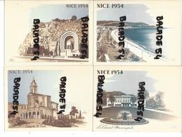 4 CPSM NICE (06) 1954 Chapelle Saint Pons, Casino Municipal, Monument Aux Morts, Promenade Des Anglais - Sets And Collections