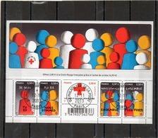 FRANCE   Feuillet 5 Timbres 0,58 €     2013   Y&T: F4819   Au Profit De La Croix Rouge    Oblitéré - Oblitérés