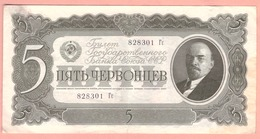 RUSSIA  5  CHERVONETZ 1937 - Russia
