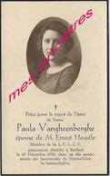 En 1939 Bailleul (59) Paula VANGHEENBERGHE Ep Ernest HEUSELE Membre De L.F.A.C.F - Décès