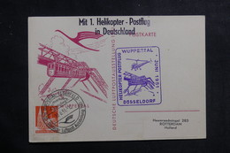 ALLEMAGNE - Carte Par Hélicoptère En 1951, Affranchissement Plaisant  - L 39861 - Lettres & Documents