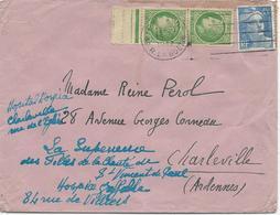 LETTRE 1947 AVEC 3 TIMBRES  TYPES MAZELIN / GANDON - Marcophilie (Lettres)