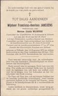 Dilbeek, 1945, Franciscus Janssens, Walraevens - Images Religieuses