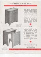 Pléaux (15 Cantal)  Prospectus FERNAND GARENNE Bureau D'écolier En Bois (PPP19911) - Publicités