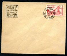 Lot Z957 Indochine Enveloppe Foire De Saigon 1942/43 - Indochine (1889-1945)