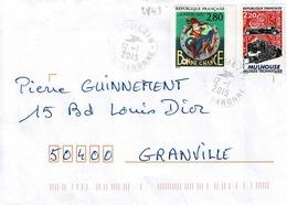 TP  N° 2843 Et 2450 Sur Enveloppe De Mézin - 1961-....