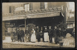 CARTE PHOTO 76 - Le Havre, Devanture Du Café-Restaurant De L. Benard - Lieu à Confirmer - Le Havre