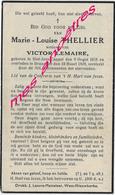 En 1939 Saint Jans Cappel (59) Et Dranouter (B) Marie Louise THELLIER Ep Victor LEMAIRE - Décès