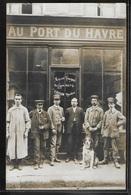 CARTE PHOTO 75 - Paris, Devanture D'un Commerce Et Ses Employés - Chien Et Sa Voiture à Chien - France
