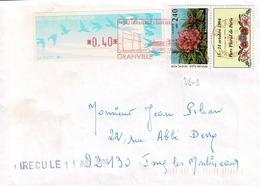 TP  N° 2849 Avec Vignette Et Complément De 0,40fr En Bande De Distributeur Sur Enveloppe De Granville - 1961-....