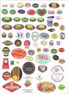 Étiquettes Fruits - 005 - Fruits & Vegetables
