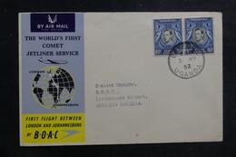 KENYA - Enveloppe Par 1er Vol Pour Livingstone En 1952, Affranchissement Plaisant - L 39871 - Kenya, Uganda & Tanganyika