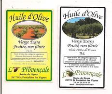 2 Etiquettes Huile D'Olive La Provençale - St Pantaléon Les Vignes - - Etiketten