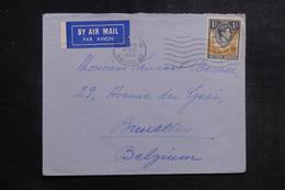 RHODÉSIE - Enveloppe De Livingstone Pour La Belgique En 1950, Affranchissement Plaisant - L 39872 - Rhodésie Du Nord (...-1963)