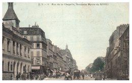 75 Paris 18ème - Rue De La Chapelle, Ancienne Mairie (couleur) Circulée - Arrondissement: 18