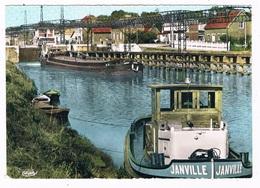 FR-3945   LONGUEIL - ANNEL : Les Ecluses En Aval ( Bateau, Schip ) - Longueil Annel