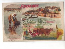 97  RE CPA  ARCACHON  AMOUROUX FRËRES  L'HIRONDELLE - Publicité