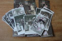 Lot De 20 Cartes Postales Anciennes Dite Fantaisie Belle Serie    Lot 1 - Fantaisies