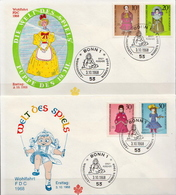 Germany Set On 2 FDCs From 1968 - Dolls