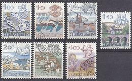HELVETIA - SUISSE - SVIZZERA - Segni Zodiacali - Lotto Di 6 Valori Usati: Yvert 1156, 1157, 1159, 1193, 1194 E 1218. - Svizzera