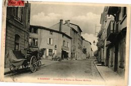 CPA St-RAMBERT - Grand'Rue Et Statue Du Docteur Malibran (225985) - Saint Just Saint Rambert