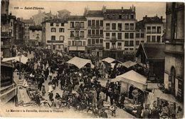 CPA St-ÉTIENNE - Le Marché Ala Ferraille Derriere Le Théatre (226430) - Saint Etienne