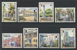 Gibraltar 1995 N° 736/743 ** Neufs MNH Superbes C 16 € Patrimoine Architectural Assemblée Eglise Sacré Coeur Eliott - Gibraltar